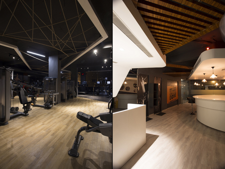 Дизайн фитнес клуба: канаты в интерьере