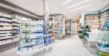 Дизайн интерьера аптеки от компании AMlab