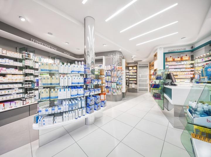 Дизайн интерьера аптеки: открытое пространство