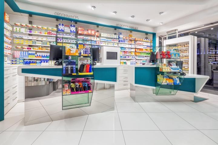 Дизайн интерьера аптеки: торговые прилавки