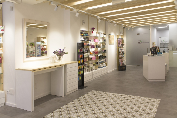 Современный дизайн интерьера аптеки