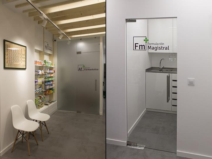 Прозрачные перегородки в дизайне интерьера аптеки