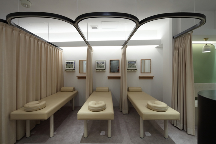 Элегантный дизайн интерьера клиники в Японии