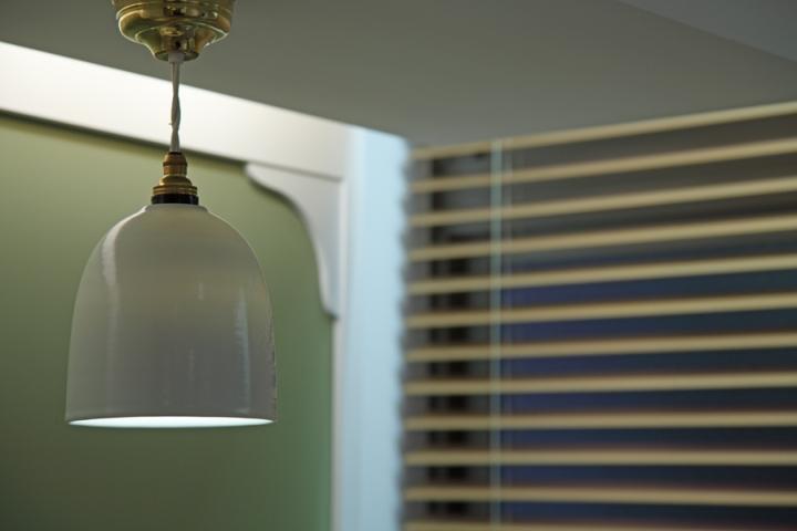 Дизайн интерьера клиники в Японии: подвесной светильник