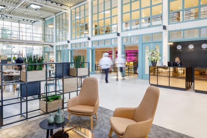 Дизайн интерьера кулинарной школы: зона отдыха