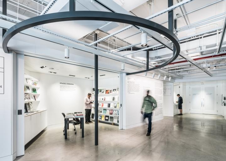 Дизайн интерьера музея: оформление отдела с литературой