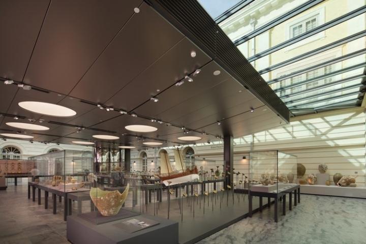 Дизайн интерьера музея: масштабные конструкции
