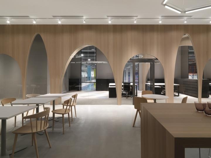 Дизайн интерьера современного офиса: арки различного размера