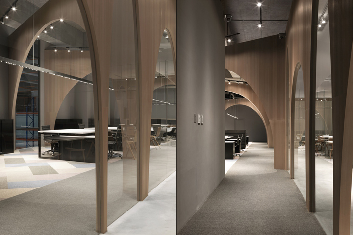 Дизайн интерьера современного офиса: коридор