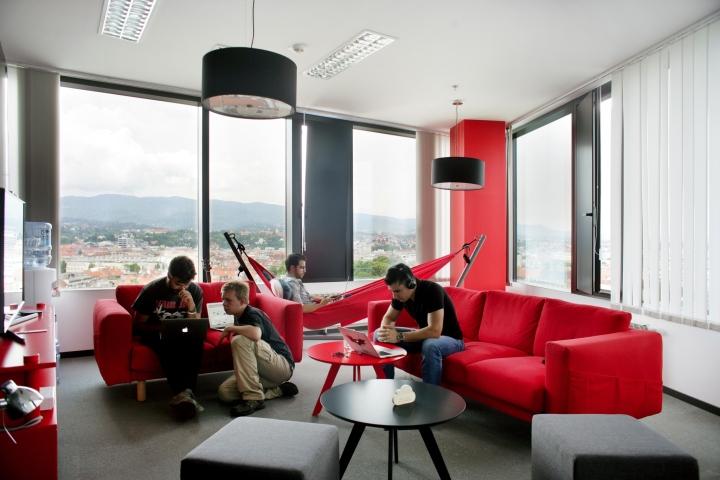 Дизайн интерьера современного офиса: комната отдыха