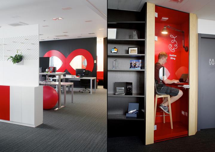 Яркие элементы в дизайне интерьера современного офиса