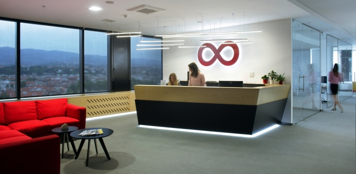 Дизайн интерьера современного офиса: стойка администратора