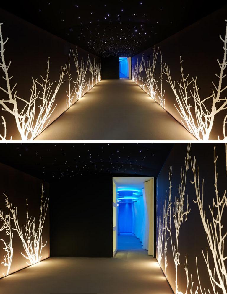 Дизайн интерьера спа салона: вход