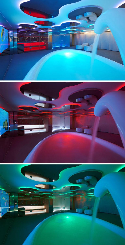 Дизайн интерьера спа салона: варианты освещения