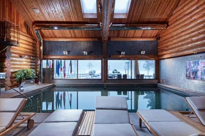Дизайн интерьера спа-салона: комната для спа на крыше