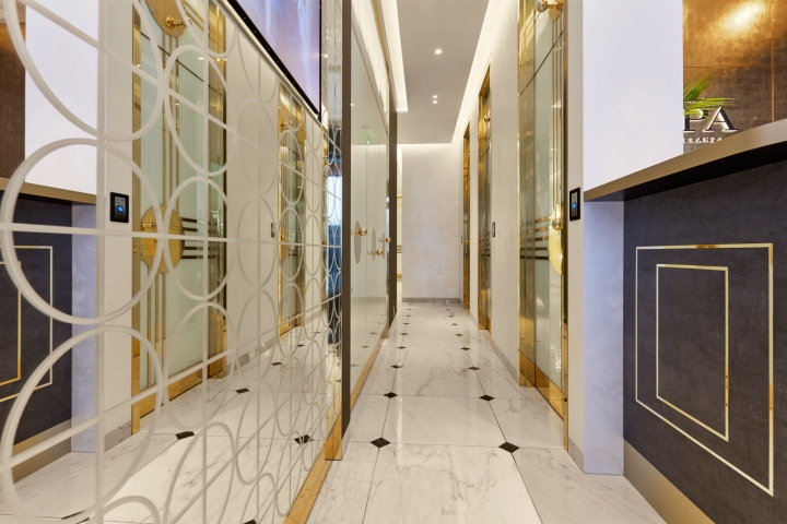 Дизайн интерьера спа-салона: стильный коридор