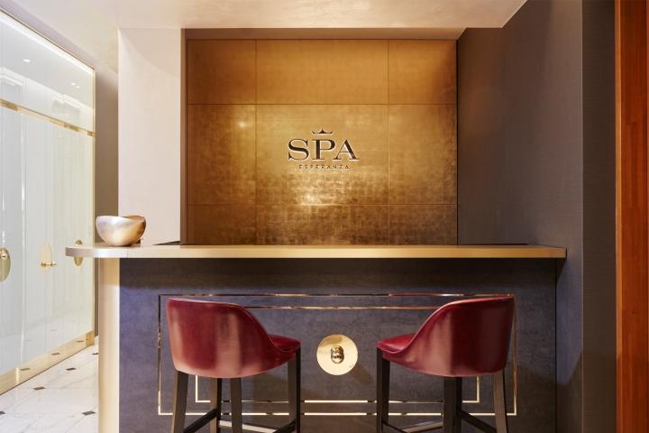 Спокойный дизайн интерьера спа-салона