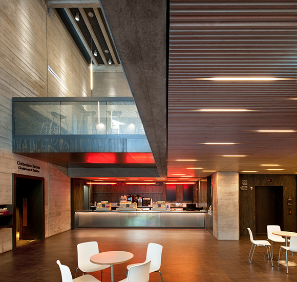 Дизайн интерьера театра: горизонтальные светильники