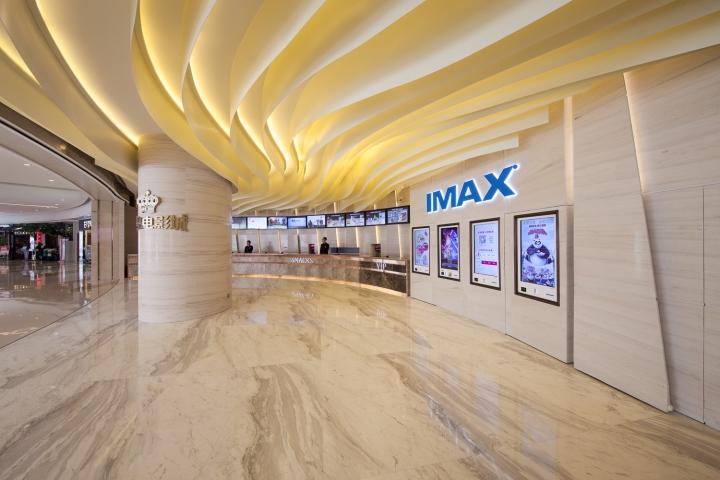 Дизайн интерьеров кинотеатра городе Хефей, Китай: билетная касса. Фото 2