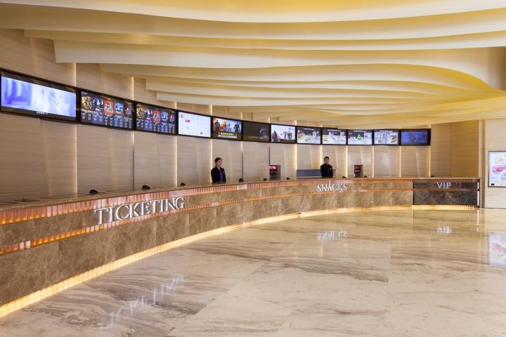 Дизайн интерьеров кинотеатра городе Хефей, Китай: касса