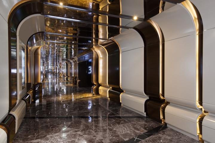 Дизайн интерьеров кинотеатра городе Хефей, Китай: коридор