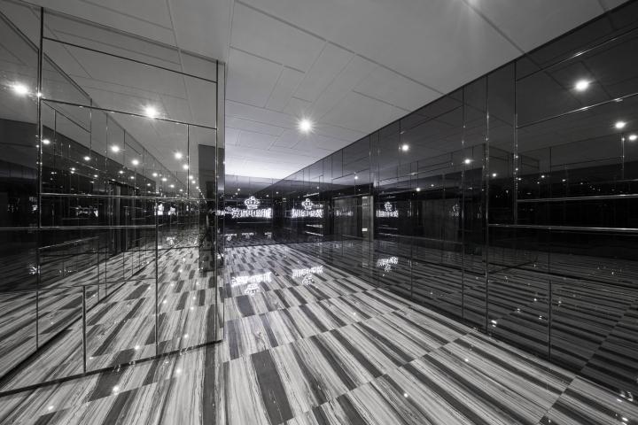 Дизайн интерьеров кинотеатра городе Хефей, Китай: VIP-коридор