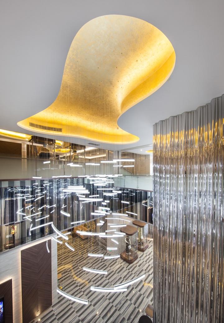 Дизайн интерьеров кинотеатра городе Хефей, Китай: вид сверху