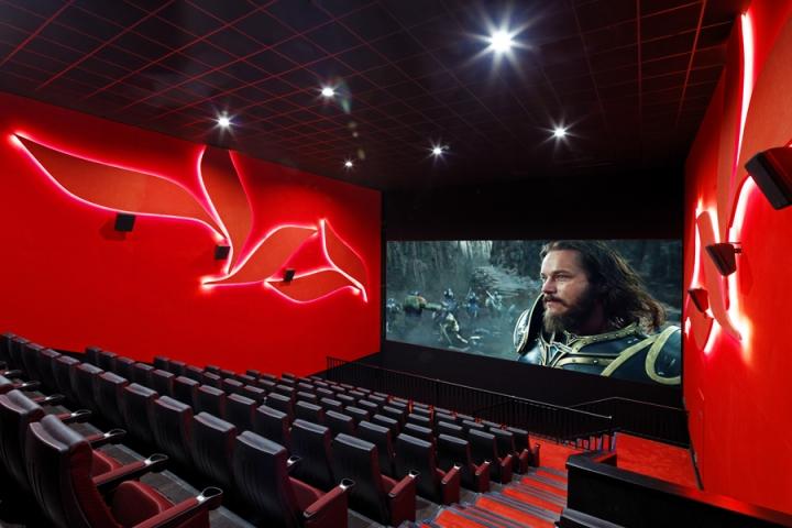 Дизайн кинотеатров из белого мрамора