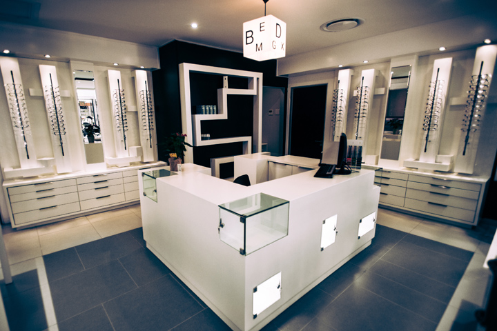 Дизайн магазина оптики «Becker and Becker»