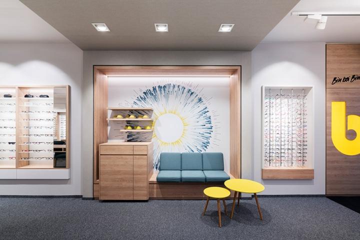 Дизайн магазина очков Binder Optik - кофе-бар