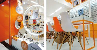 Яркий дизайн магазина оптики в Сан-Пауло, Бразилия