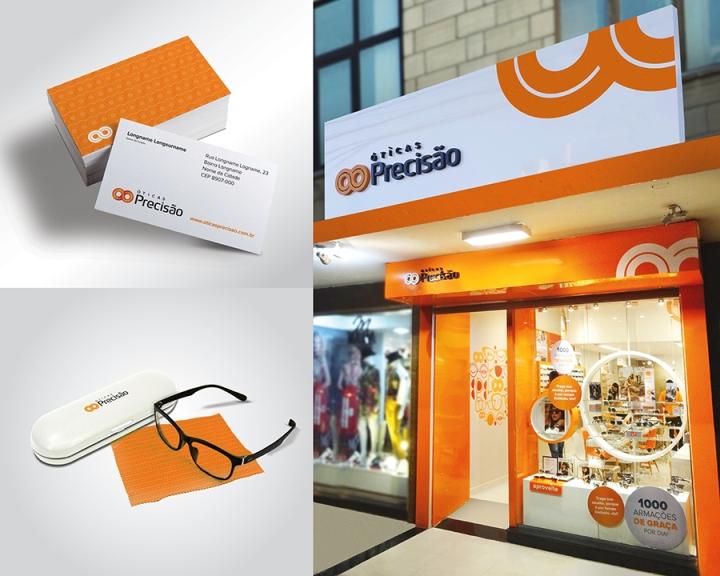 Ярко-оранжевые акценты в дизайне магазина оптики - Фото 2