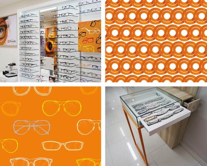 Ярко-оранжевые акценты в дизайне магазина оптики - Фото 8