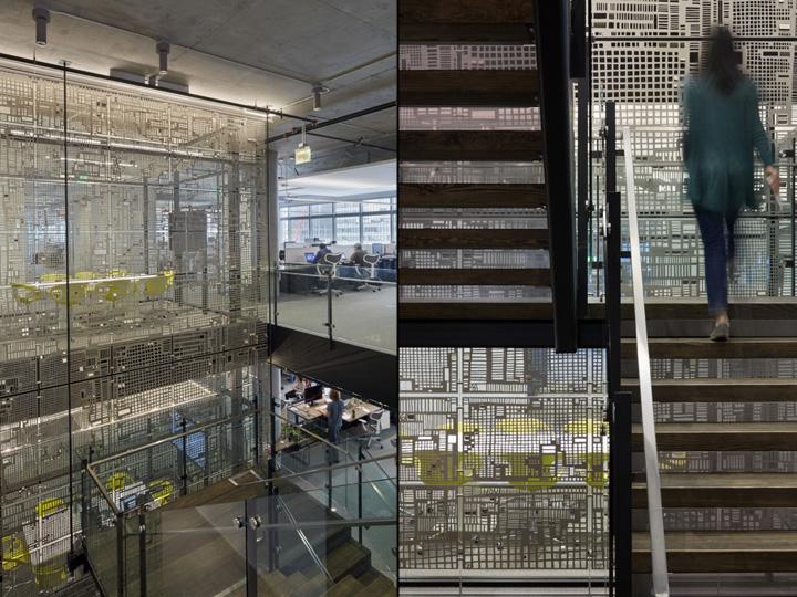 Дизайн офиса в серых тонах: уникальные решетки