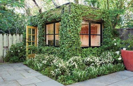 Дизайн офисного рабочего места: офис во дворе участке
