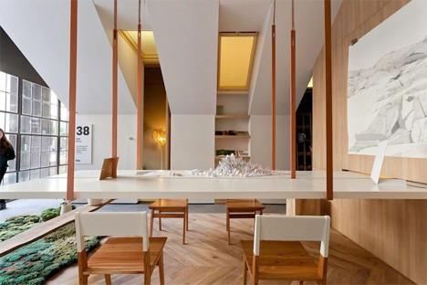 Дизайн офисного рабочего места: интерьер дома напоминает парк