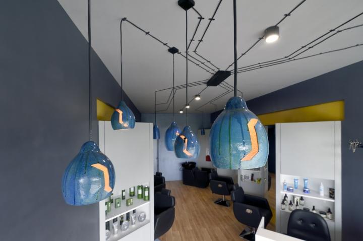 Дизайнерские светильники в дизайне парикмахерской - Фото 1