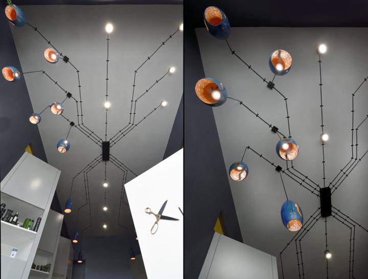 Дизайнерские светильники в дизайне парикмахерской - Фото 2