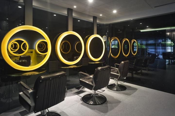 Дизайн парикмахерской: темная, но роскошная VIP-зона