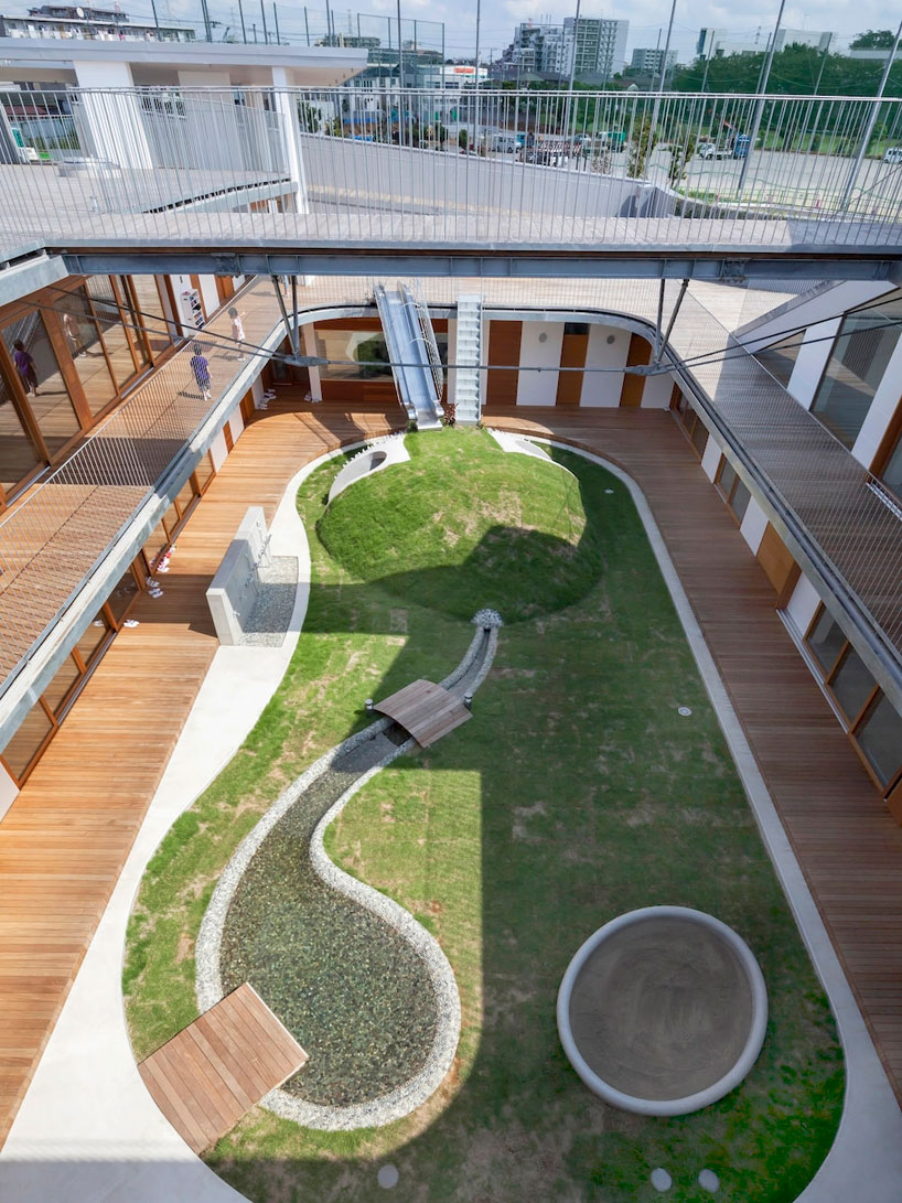 Практичный дизайн внутренней площадки детских садов - Фото 1