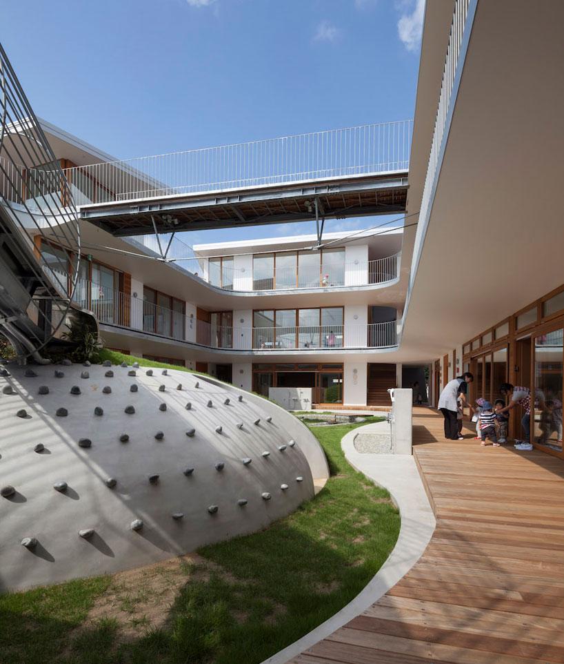 Практичный дизайн внутренней площадки детских садов - Фото 2