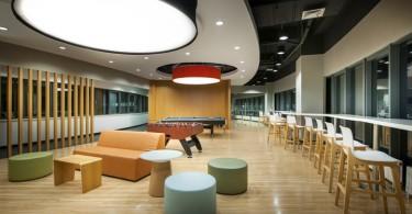 Дизайн проект интерьера офиса: футуристическая красота Института молочного животноводства Нестле в Китае от Inkmason