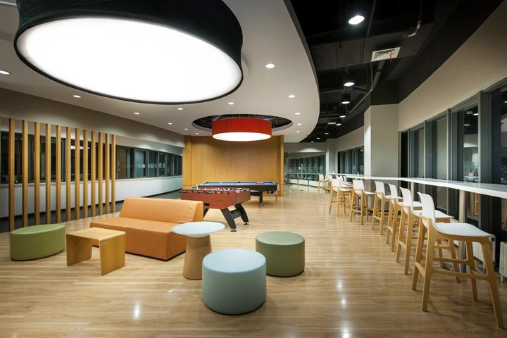 Яркий дизайн проект интерьера офиса