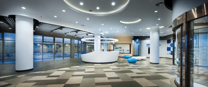 Современный оригинальный дизайн интерьера офиса