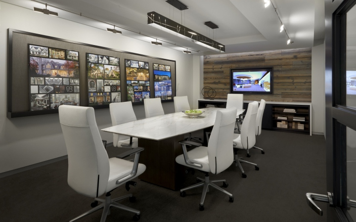 Дизайн-проект офиса в Иллиноисе, США: комната для переговоров