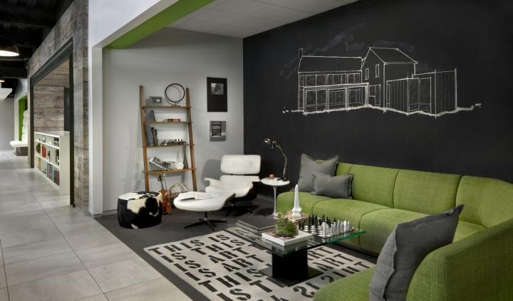 Дизайн-проект офиса в Иллиноисе, США: зона отдыха