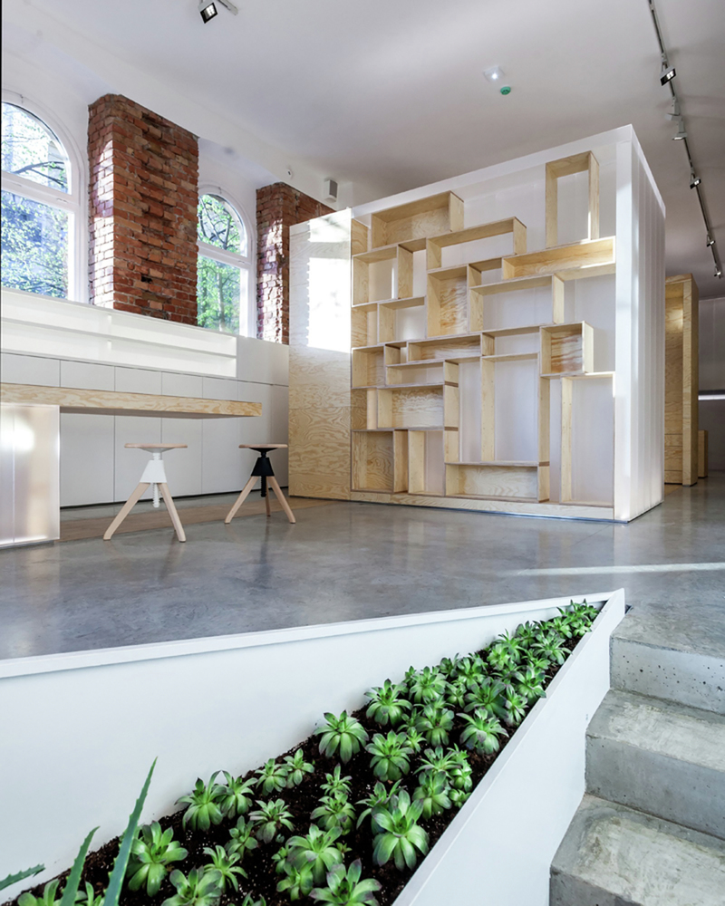 Живые растения в дизайне салона красоты