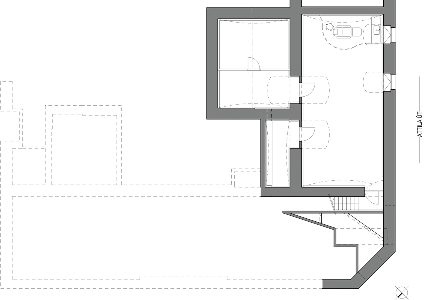 План-чертёж здания салона красоты - Фото 1