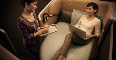 Дизайн салонов первого класса для Singapore Airlines