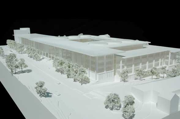 Оригинальный дизайн школы менеджмента Edward P. Evans Hall: макет здания школы